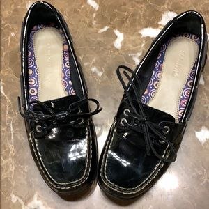 Sperry Black Patent Leather Loafer